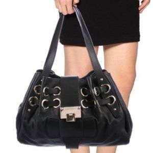 Jimmy Choo Ramona Black Leather Designer Bag